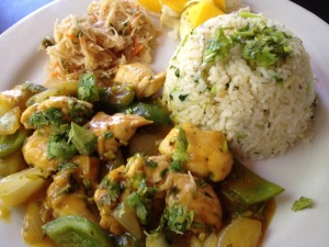 Mango Chicken at Cheers Restaurant