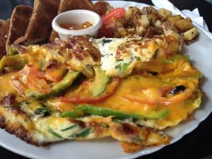 Omelette at Cheers Restaurant